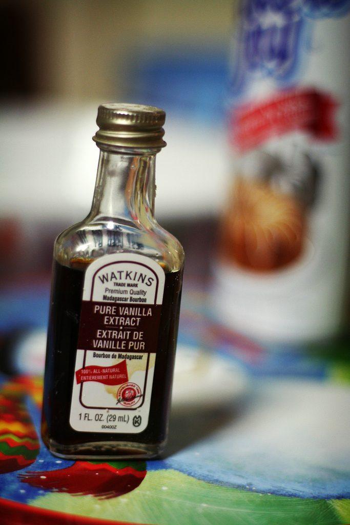 Petite bouteille d'extrait de vanille