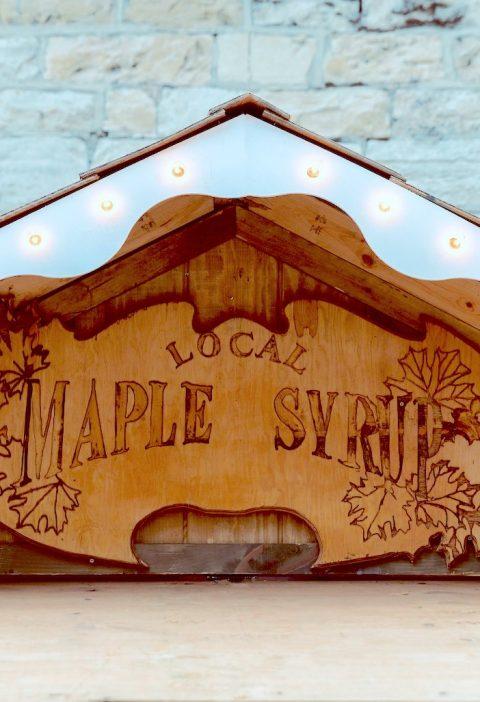 Une cabane à sucre pour sirop d'érable